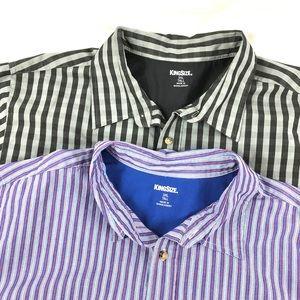 Bundle of 2 Men's King Size Short Sleeve Shirts 3X